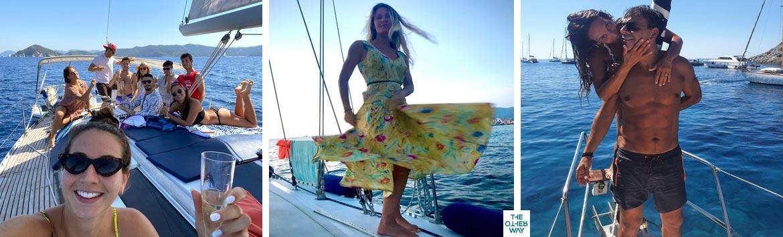 La barca è un modo divertente per festeggiare il compleanno, laurea o addio al nubilato