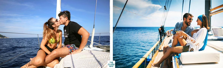 Viaggio di nozze da sogno in località esclusive in caicco, barca a vela e catamarano.