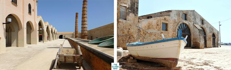 Durante la vacanza in Sicilia, è consigliata la visita alle tonnare più famose, tra cui quelle delle Isole Egadi
