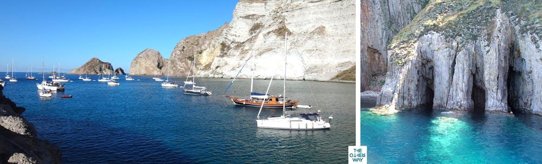 Il modo migliore per visitare le isole Pontine è in barca a vela e in catamarano